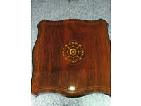 Rosewood Inlaid Lamp or Side Table in Chinese Style
