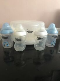 Baby bottle, steamer and hand Brest pump