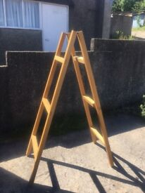 Solid wood A frame/ladder frame for shelving unit