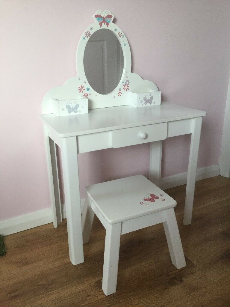 Kids Girls Dressing Table With Mirror