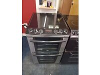 ZANUSSI 55CM CEROMIC TOP ELECTRIC COOKER IN SILIVER. D