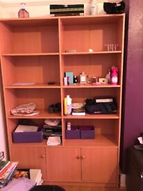 Cupboard with shelves and lots off storage shelves