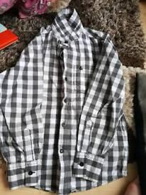 Age 8-9 check shirt vgc