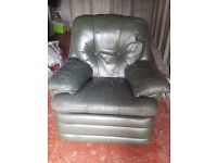 Free. Green leather recliner. Need to pick up.