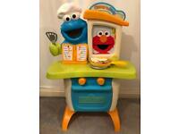 Childrens Playskool Sesame Street Cookie Monster Kitchen Cafe With Elmo Play Set