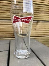Budweiser pint glasses bar pub club man cave