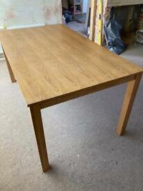 John Lewis solid oak table