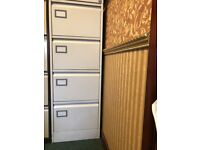 SILVERLINE 4 DRAWERS FILING CABINET WITH KEY £30.00