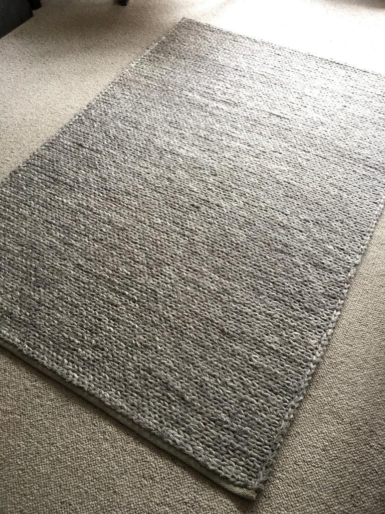B Q Claudine Grey Thick Knit Rug