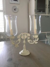 Pretty metal double candle holder/candelabra