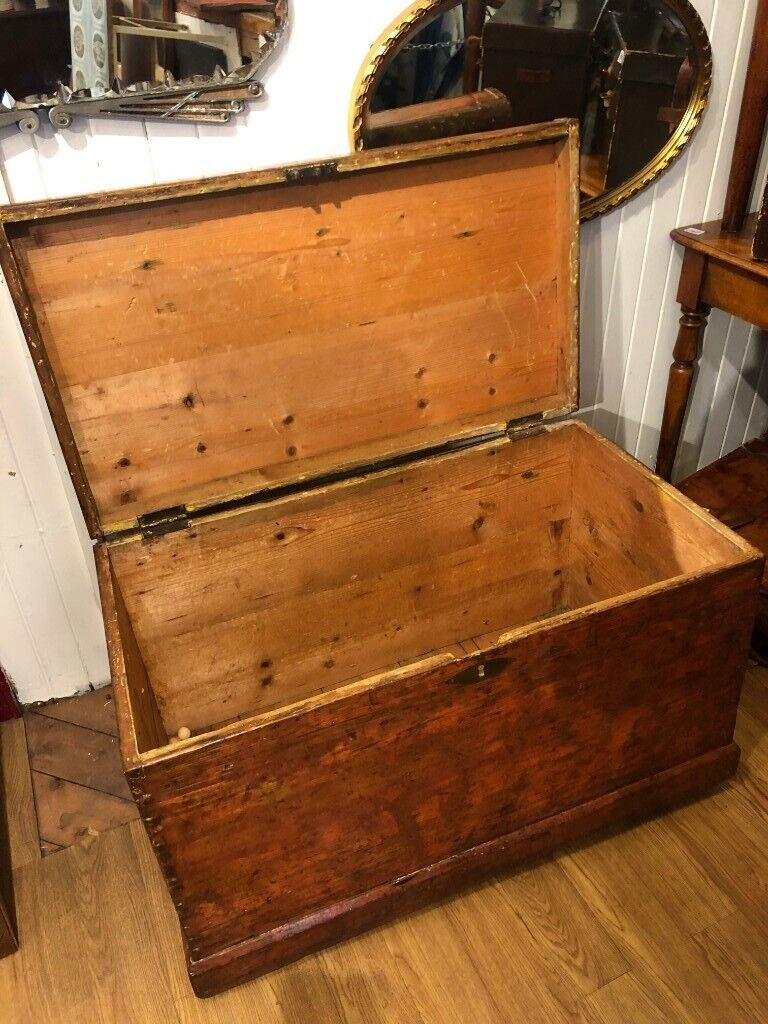 Large Wooden Chest Great For Storage Or Coffee Table On Wheels Free Local Delivery In Trinity Edinburgh Gumtree