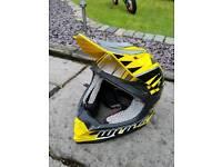 Medium wolf motocross helmet