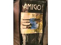 "5'6"" Amigo Mio stable sheet chocolate/lime"