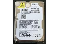 "Western Digital 320GB WD3200BUCT AV-25 2.5"" internal Sata Laptop Hard Drive"