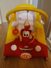 Little Tikes Cozy Coupe Car Baby Bouncer Reclining Chair Vibrating Musical Seat With Toy Bar Toys