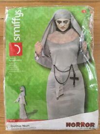 GOTHIC NUN FANCY DRESS COSTUME SIZE S