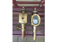 Carriage lanterns- brass- lovely project to be converted to electricity.