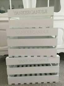 Yankee candle display crates