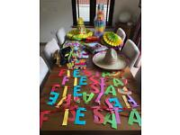 Various Mexican Party Items - Sombrero, Poncho, Piñata