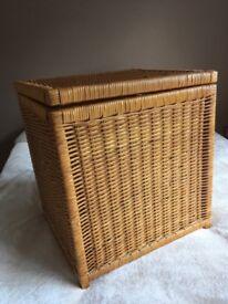 Wicker laundry /storage box