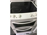 Zanussi White Ceramic Plates Electric Cooker With Free Delivery