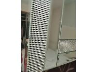 Large wall mirror from pagazzi lighting (diamanté crystals style)
