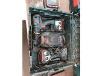 18v Bosch impact and comic drill set