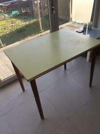 YELLOW TOP WOODEN TABEL DETACHABLE LEGS FORMICA