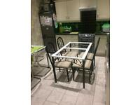 Dining Table and 4 chairs free local delivery if required