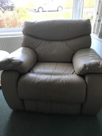 Leather recliner armchair in excellent condition from a smoke and pet free home