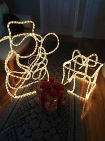 Christmas snowman and gift parcel lights