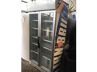 Husky 2 doors drink fridge