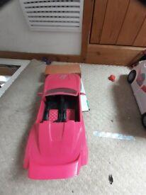 Barbie sports car like new