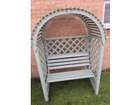 Wooden arbour garden seat