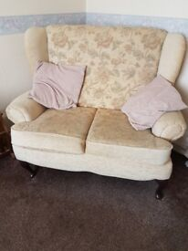 Small two seater and chair