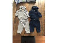 Bennetton Baby Boy Navy/Grey Tracksuits (0-3 months)