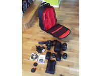 Canon EOS 550D + Lenses + Bag + Trolley Case