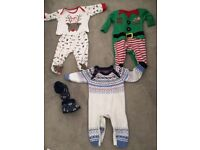 Christmas baby clothes - various sizes from 0-6 months