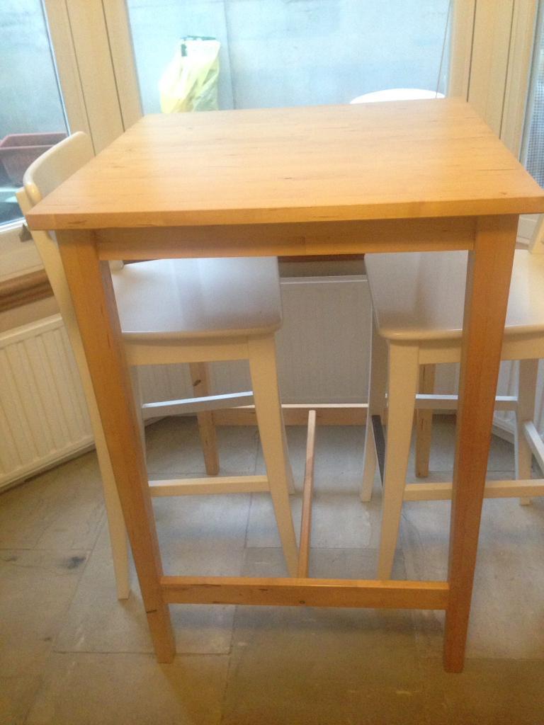 Excellent Ikea Bar Stools And Table In Newham London Gumtree Creativecarmelina Interior Chair Design Creativecarmelinacom