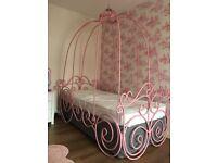 Disney princess Cinderella carriage metal bed frame