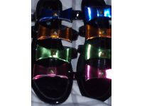 Black patent bow sandles new size 7 & Next beaded indian sandles size 7 used once (other items)