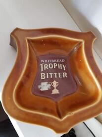 Whitbread Trophy Bitter Ceramic Ashtray Collectable Antique pub Bar