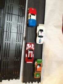 scalextric track and cars 10.00