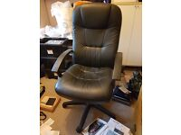 FREE to collector.Office chair, height adjustable, black