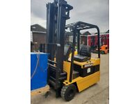 Used Electric Forklift Truck available Caterpillar EP18KT 4m Lift height 1800KG