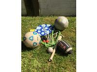 Mixture of outdoor play equipment