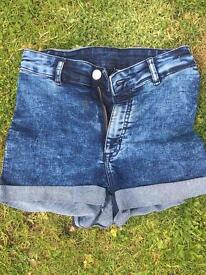 H&M high waisted hot pants