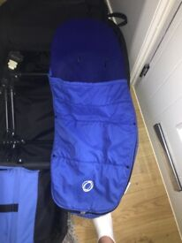 Bugaboo cameleon 2 in royal blue with black frame wrap