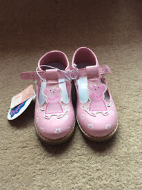 Brand New mothercare peppa pig shoes size 8.