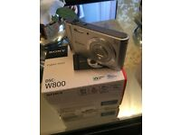 Sony DSC-W800 Digital Camera Brand New With Memory Card 16GB RRP £100